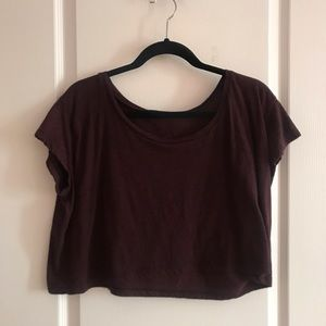 Burgundy American Apparel Crop Top One Size